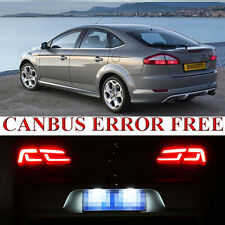 2 Pcs For Ford Mondeo MK4 Xenon LED Licence Number Plate Error Free Light Bulb