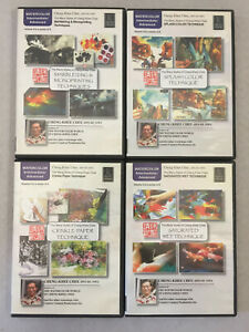 Cheng-Khee Chee Watercolor DVDs Saturated Wet Crinkle Paper Splash Color Lot 4
