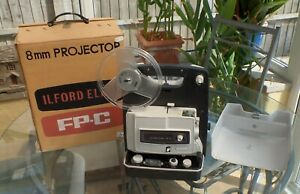 ILFORD ELMO FP-C DUAL 8mm PROJECTOR WORKING SEE VIDEO for telecine transfer