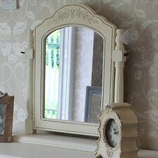 CREMA in legno per tavolo da toeletta specchio Swing Vintage Country Stile CASA CHIC