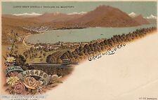Gruss aus Lugano AK 1900 Panorama Alpen See Schweiz Suisse Svizzera 1604385