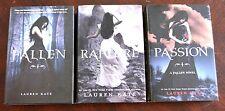 The Fallen Series by Lauren Kate Fallen Passion Rapture HB, VGC L12