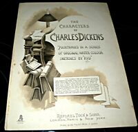 23 Coloured Book Plates - Charles Dickens Characters - By KYD, Removed From Book