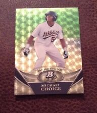 2011 Bowman Platinum Superfractor Test no 1/1 stamp Michael Choice Rangers