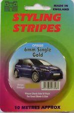 "Car Body Styling Pin Stripe 6mm (1/4"") Gold"