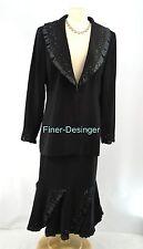 Lynda's Lady Dress Church Evening 2pc Suit sexy bead ruffle flare skirt 12 NEW