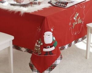 """Pottery Barn Kids Christmas Rudolph Red Nosed Reindeer Dinner Tablecloth 70""""X90"""""""