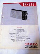Sony TR-912 service manuals no.1 & no.2 MW/SW transistor radio