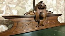 Architectural salvage gothic design pediment Antique french wooden crest cornice