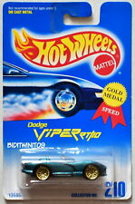 HOT WHEELS 1991 BLUE CARD DODGE VIPER RT/10 #210 GREEN 09