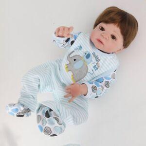 22inch Reborn Baby Doll Full Vinyl Silicone Handmade Newborn Babies Dolls Toy