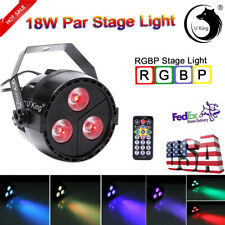 U`King 3 Led Rgbp Par Can Dj Stage Lighting Remote Disco Party Bar Color Mixing