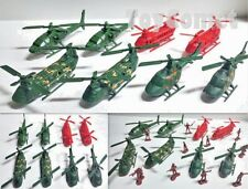 8 pcs Military Helicopter Models Plastic Toy Soldier Army Men Accessories A