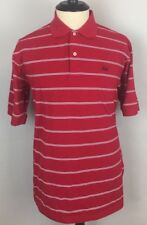 Cajun Clothing Co by Perils Polo Shirt Large, Red with White Stripes