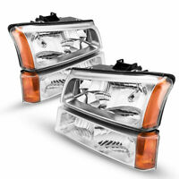 Clear Corner Headlights Replacement For 03-06 Chevy Silverado 1500/2500/3500
