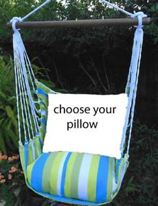 MAGNOLIA CASUAL HAMMOCK SWING SET - BEACH BOULEVARD Choose Your Pillow