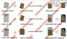 3x Genuine NOOSY Nano SIM to Micro/Standard Card Adaptors Adapter Tray Holder