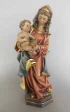 Madonna m. Kind u.Krone,Mutter Gottes holzgeschnitzt ca. 36 cm hoch Antik bemalt