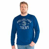 Profile Big /& Tall NBA Philadelphia 76ers Short Sleeve Screen Tee 5X Royal