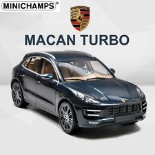 Minichamps 1:18 Diecast Model Car PORSCHE MACAN TURBO SUV 2013 Blue Limited
