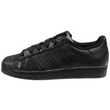 Adidas Superstar Foundation Big Kids B25724 Black Athletic Shoes Youth Size 7