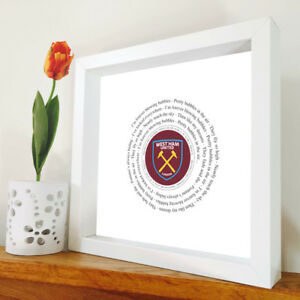 West Ham United - I'm Forever Blowing Bubbles - Song Lyric Print - West Ham Gift