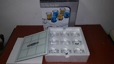 BEER MUG TIC TAC TOE SET DRINKING SHOT GAME - GLASS BOARD X'S AND O'S