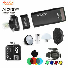 Godox AD200Pro TTL Blitz + X2T-C Auslöser Für Canon + Softbox Filter Diffusor