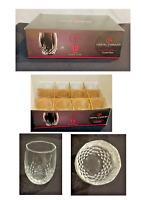 Cristal d'Arques Durand LONGCHAMP Cut Crystal 10 oz. Stemless Wine Glass 12-PC