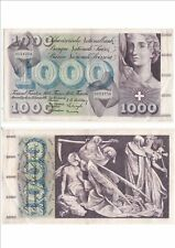 SUISSE SWITZERLAND SWISS SCHWEIZ 1000 Frs 30-09-1954 très rare état voir scan