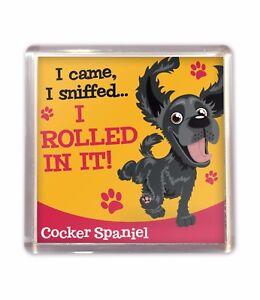 Black Cocker Spaniel Funny Cute Fridge Magnet Dog Lovers Gift Stocking Filler