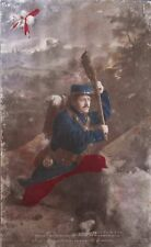 VINTAGE/ANTIQUE 1916 FRENCH FOREIGN LEGION WORLD WAR 1 PHOTO POSTCARD~HANDTINTED