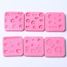 DIY Nail Art Tips 3D GEL Acrylic Powder Silicone Mould Set Nail Design Tools