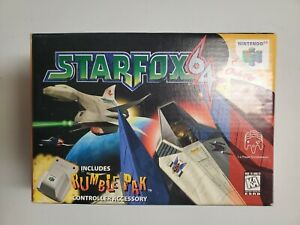 Star Fox 64 (Nintendo 64, N64, 1997) Authentic Big BOX ONLY, No Game or Inserts
