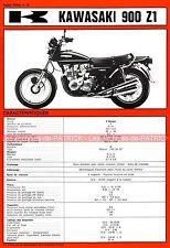 KAWASAKI Z900 Z1 Z 900 Fiche Technique Moto 000272