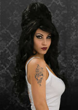 Gothic Black Amy Winehouse Style Wig