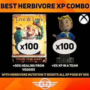 Live & Love 3 x100 + 100 x Leader Bobbleheads - BEST XP COMBO - Fallout76 [XBOX]