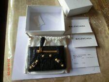 Balenciaga Classic Mini  Lether Black  Edge Continental Wallet No zip Inside