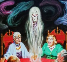 """EC Artists of the 1950's - Johnny CRAIG - Orig Art  OIL PAINTING - """"The Seance""""!"""