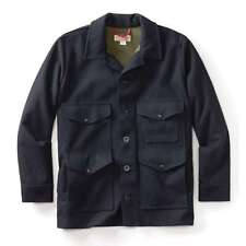 NWT FILSON MEN'S LINED SEATTLE CRUISER BONDED WOOL JACKET COAT NAVY M MADE USA