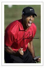 Tiger Woods Open Golf autógrafo Firmado Foto impresión