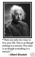 "Albert Einstein ""only two way to live your life"" Quote 11 x 17 Poster Photo #ph1"