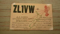 OLD HAM QSL RADIO CARD, 1948 NEW LYNN AUCKLAND NEW ZEALAND, ZL1VW