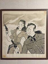 "Bob Moore original illustration ""Calamity Jane"" caricature 1949 Disney artist"