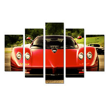 Red Super Cars 5 Pieces Picture Painting Canvas Wall Art Poster Print Home Decor