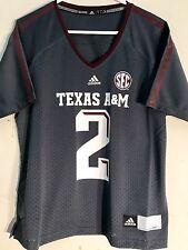 Adidas Women's NCAA Jersey TEXAS A&M Aggies #2 JOHNNY MANZIEL Grey sz M