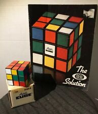 Ideal 1980 Original Rubik's Cube In Box W/ BONUS The Solution Cheat Book