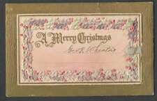 PPC A70* VINTAGE XMAS GREETING CARD OPENS EMBOSSED UNPOSTED