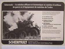 6/1976 PUB SCHERMULY SIMFIRE SOLARTRON ALVIS SALADIN ARTIFICES ORDRE FRENCH AD