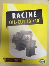 "Racine Tool & Machine Co Brochure ~ Oil-Cut 10""x10"" Cut-Off ~ Tool Catalog"